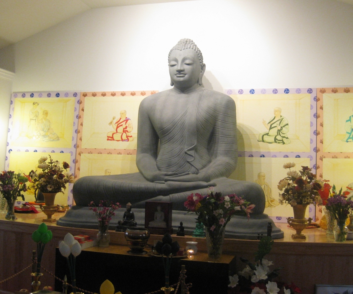 Buddha statue of the main shrine room